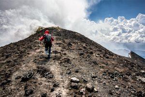 la via sull'Etna