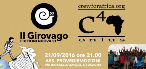 Il Girovago e Crew for Africa – mercoledì 21 settembre ore 21